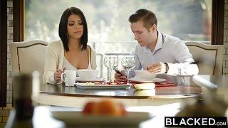 BLACKED – Brunette Ariana Chechik Takes Trio of BBCs